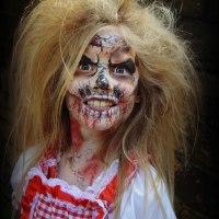 Zombie girl face paint special fx make up artist MUA littlestarfaces