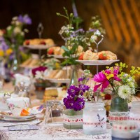 Afternoon tea; vintage china; wedding decorations
