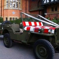 WW2 Jeep wedding car