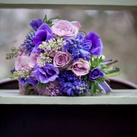 Spring bouquet in purple and lilacs