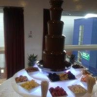 luxury chocolate fountain display