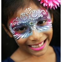Face painting for children and adults private and corporate events in and around Southampton by professional face painter Patricia Descalco