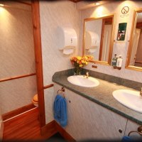 interior of luxury self-contained toilet trailer, Classical range