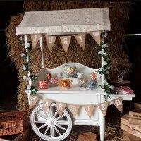 Barn wedding themed cart