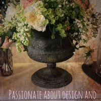 Vintage Urn filled with pretty flowers