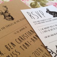 Enchanted Forest, natural kraft wedding stationery range