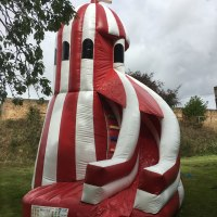 Helter Skelter inflatable slide hire in Norwich