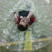 Stag do playing bubble soccer