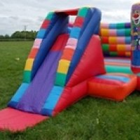 Our 'Bounce & Slide' bouncy castle, a great hit with the younger children.