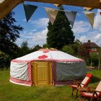Yurt in the summer sun