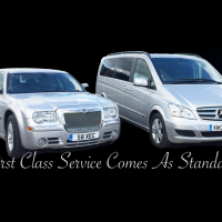 Chrysler 300C Executive Saloon and luxury 7-passenger Mercedes Viano