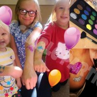 Glitter Tattoos. Impeccable Parties. Coventry Face Painter. Warwickshire Face Painter