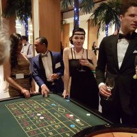Guests of L'Oreal enjoying playing roulette at one of our tables