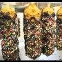 Finished Chocolate waffle with 100/100