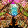 Artist Inside The Dazzling Dodecahedron