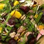 Roast beets charred fennel goats cheese and orange salad