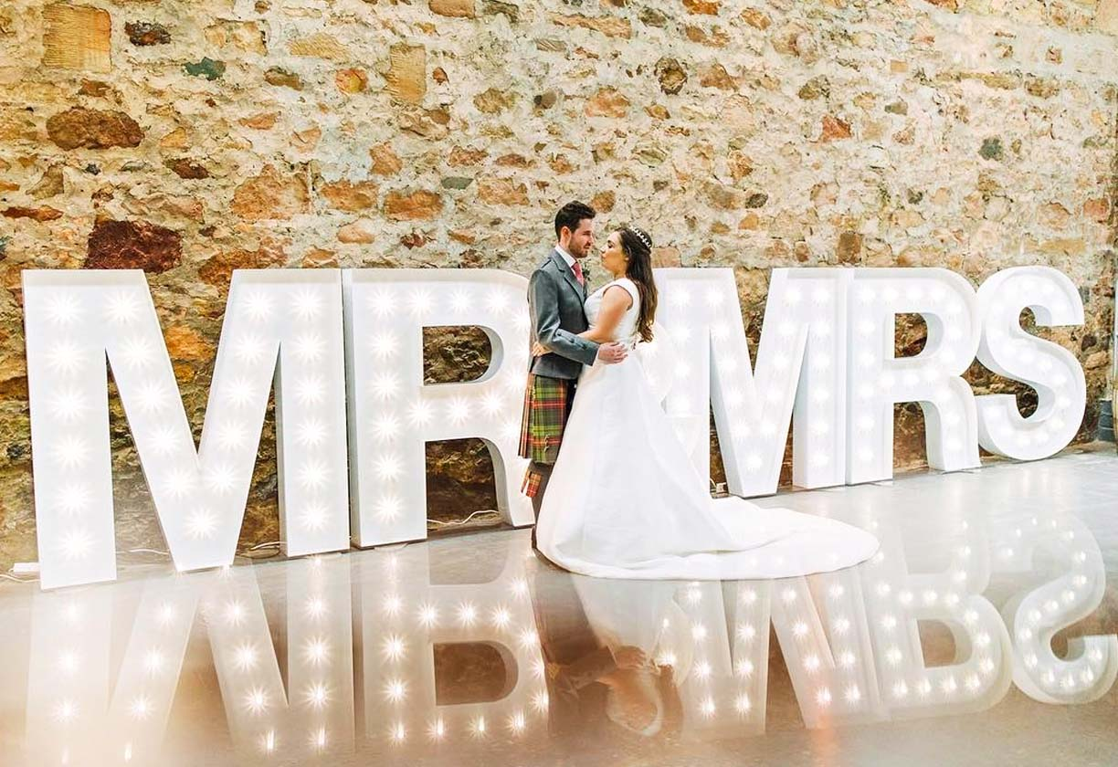 Big Bright Letters light up letter for wedding