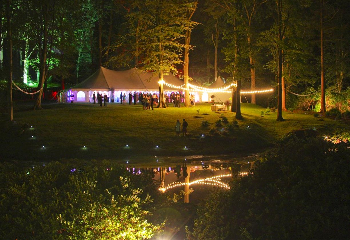 Sussex Marquees event at night