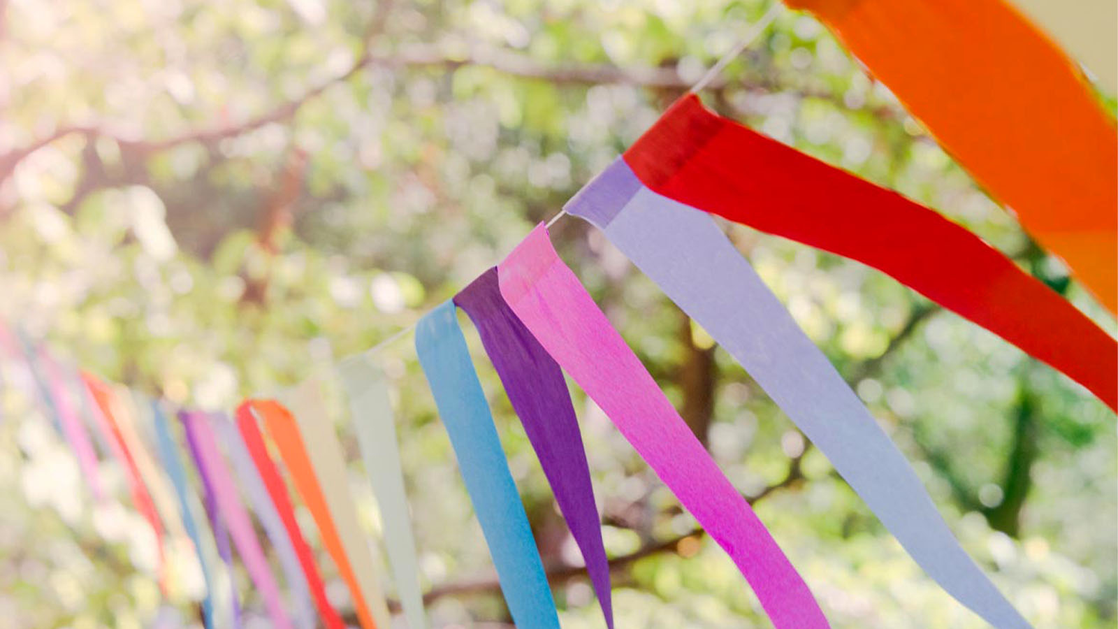 Add to Event hero image of bunting at an outdoor festival