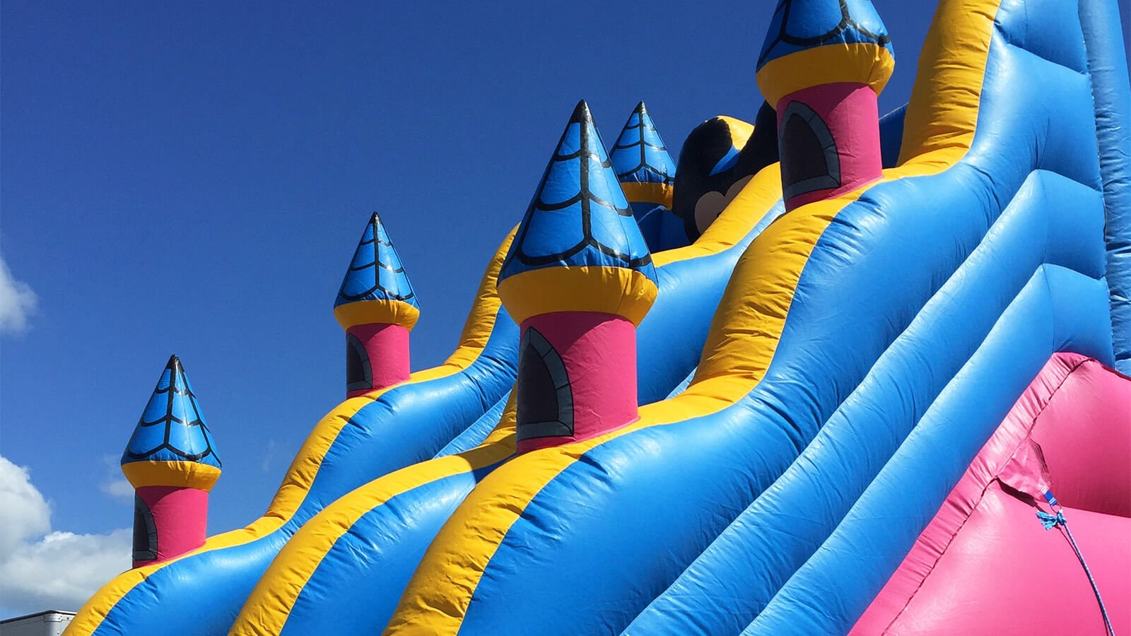 Inflatable fun comes in the form of bouncy castles, inflatable slides, bungee runs and various other larger than life games.